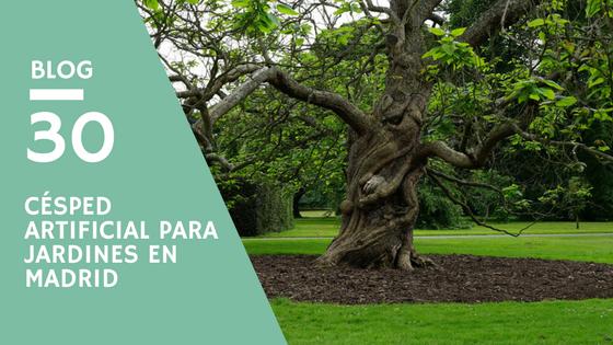 Césped artificial para jardines en Madrid