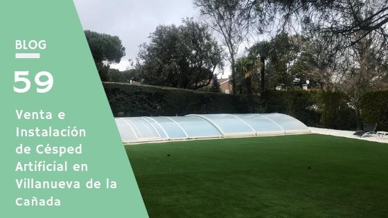 Césped artificial en Villanueva de la Cañada