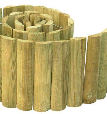 Bordadura de madera para jardines