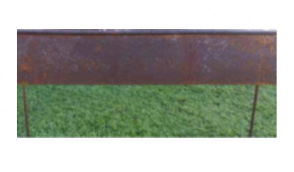 Perfil acero oxidado para jardín
