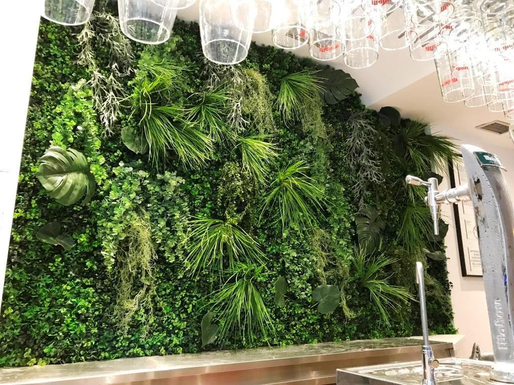 jardin vertical artificial interior